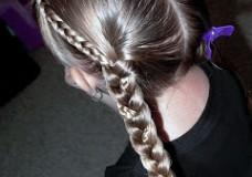 Little Girl's Hairstyles – Double Progressive Braids