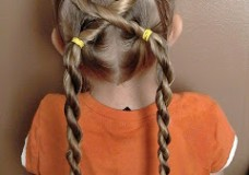 Little Girl's Hairstyles -Twisted Puffy Braid Laces