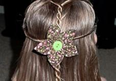 Little Girl's Hairstyles -Figure 8 Twist with Twist Braids