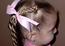 Little Girl's Hairstyles -Slide Up Braids with Twist Braids
