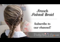 Pretty Hair is Fun -How to do a French Fish Tail Braid Video Tutorial