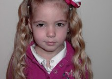 Little Girl's Hairstyles -Puffy Braids Headband with Half Curls