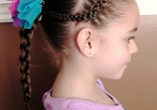 Little Girl's Hairstyles — How to use a 4 strand braid with a French Braid