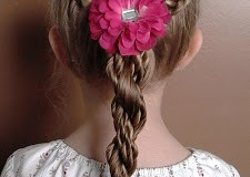Little Girl's Hairstyles – How to do a Dutch Braid with Super Twist Braid