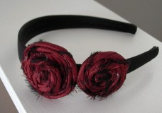 Little Girl's Hairstyles: How to make a Fabric Rosette Headband Video Tutorial