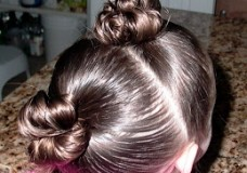 Little Girl's Hairstyles: Short Hairdo–Double Stuffed Buns