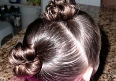 Little Girl's Hairstyles: Short Hairdo–Double Stuffed Buns