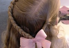 Little Girl's Hairstyles: The Braid and Twist Hairstyle with Waves