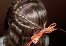 Little Girl's Hairstyles: The Braid and Twist Hairstyle with French Twist Braids