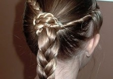 Little Girl's Hairstyles: The Braid and Twist Hairstyle with a Stacked Ponytail