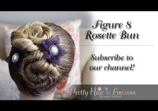 Pretty Hair is Fun: How to do a Figure 8 Rosette Bun Video Tutorial