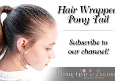 Pretty Hair is Fun: How to do a Hair Wrapped Ponytail