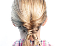 Pretty Hair is Fun: Fishtail Braid with Double Hair Wrapped Ponytails