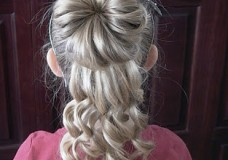 Pretty Hair is Fun: Half Bun Curly Updo Video Tutorial