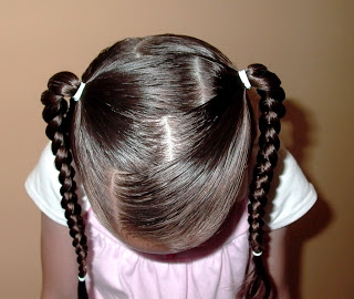 Little Girl's Hairstyles: How to Part–Stairs Part
