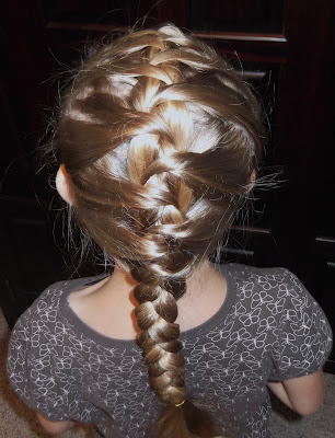 Little Girl S Hairstyles How To Do A Hidden French Braid