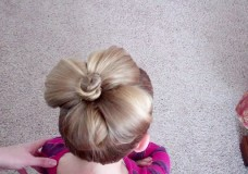 Little Girl's Hairstyles: How to do a Flower Bun (Easter) Hairstyle Video Tutorial
