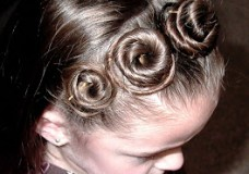 Little Girl's Hairstyles: Rosette Headband Hairstyle Video Tutorial