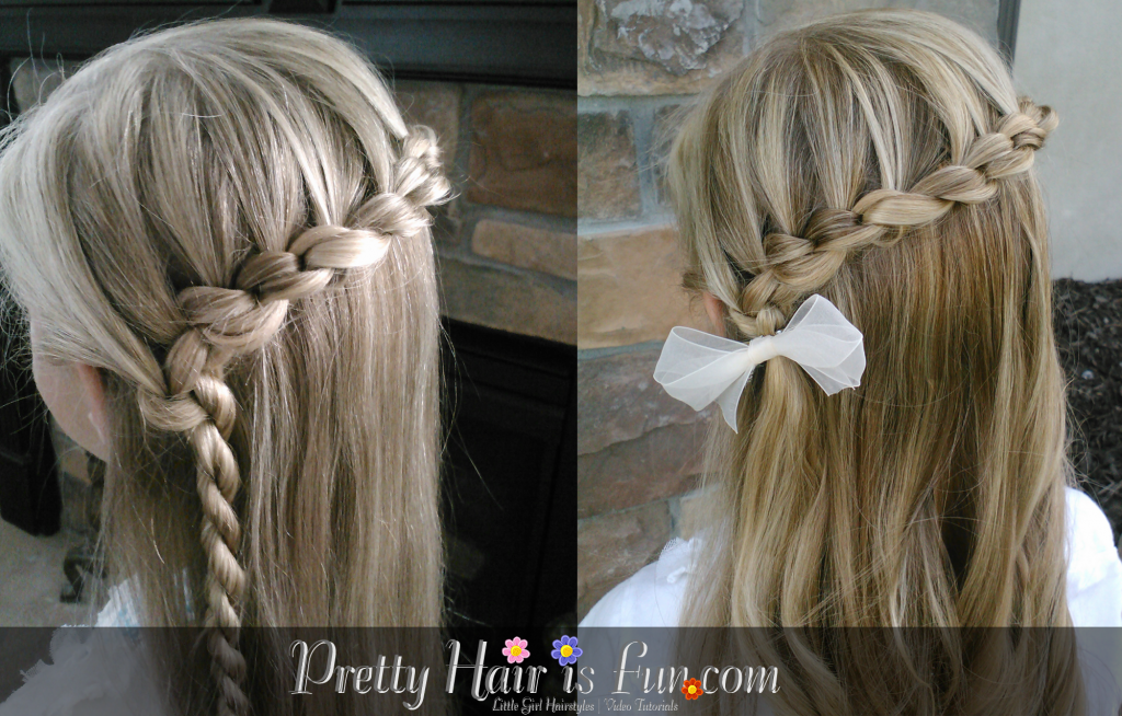 Little Girl's Hairstyles: Knotted Braid (Daisy Chain) Lace
