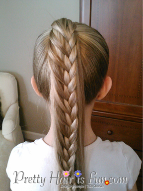 Little Girl S Hairstyles Ladder Braid Ponytail Pulled