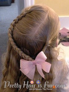 Girl's Hairstyles: Dutch Braid and Twist Hairstyle
