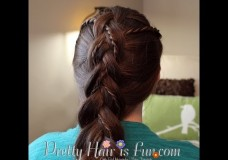 Girl's Hairstyles: Weaved Twist Dutch Braid