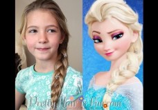 Pretty Hair is Fun: Elsa's Hairstyle/French Braid from Disney FROZEN