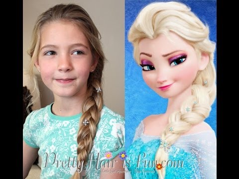 Pretty Hair Is Fun Elsa S Hairstyle French Braid From Disney Frozen Pretty Hair Is Fun Girls Hairstyle Tutorials