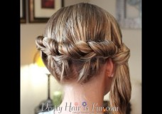 Girl's Hairstyles: Side Knotted Braid