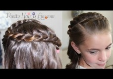Girl's Hairstyles: Swirled French Twist Braid