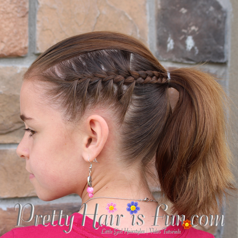 Girl S Hairstyles Racer Stripe Braids Pretty Hair Is