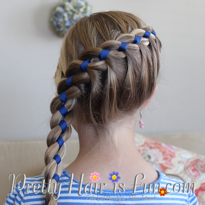 ... Ribbon and Cute Easy Hairstyle With Ribbon under Ribbon Flower Hair