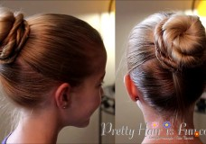 Girl's Hairstyles: Top Crossover Bun