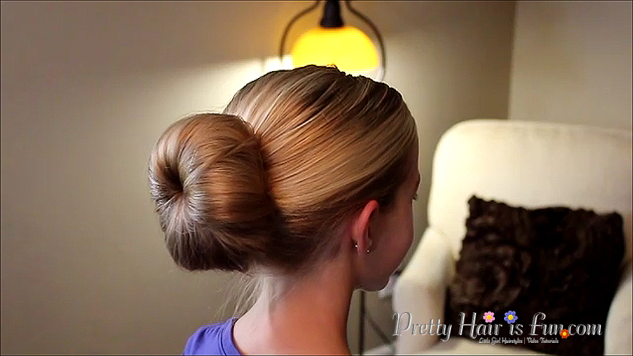 Peachy Pretty Hair Is Fun Girls Hairstyle Tutorials Ballet Buns Hairstyle Inspiration Daily Dogsangcom