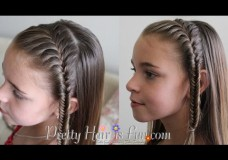 Girl's Hairstyles: French Fishtail Headband Braid