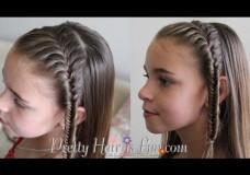 Girl's Hairstyles: French Fishtail Headband Braid