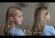 Girls' Hairstyles: How to do a Hanging Braid (Now with Subtitles!!)