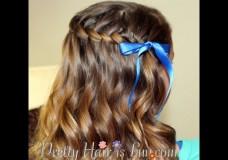 Pretty Hair is Fun Girls Hairstyles: Waterfall Twist Braid