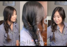 Girl's Hairstyles: Loose Side Fishtail Braid
