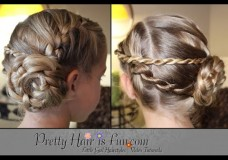Girls' Hairstyles: Ladder Braid Pinwheel Updo