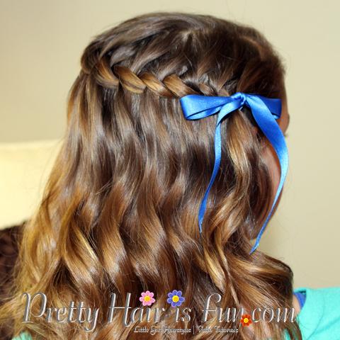 Pretty Hair Is Fun Girls Hairstyles Waterfall Twist Braid Pretty