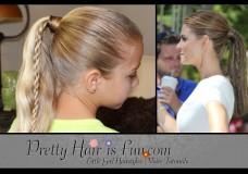 Pretty Hair is Fun: Twin Braid Ponytail