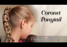 Pretty Hair is Fun: How to do a Coronet Braid {Ponytail Hairstyle}