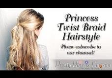 Pretty Hair is Fun: Princess Twist Braid Hairstyle