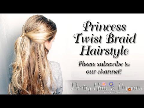 Pretty Hair Is Fun Princess Twist Braid Hairstyle Pretty Hair Is