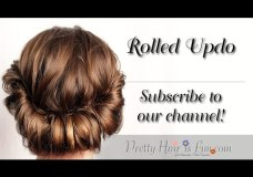 Pretty Hair is Fun: Rolled Updo Hair Tutorial