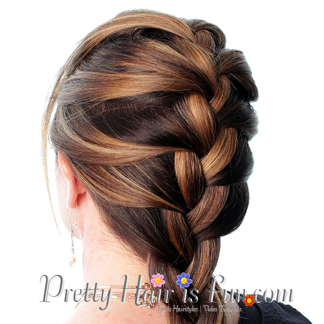 how to french braid own hair - photo #18