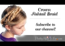 Pretty Hair is Fun: How to do a Milkmaid/ Crown Fishtail Braid Hairstyle
