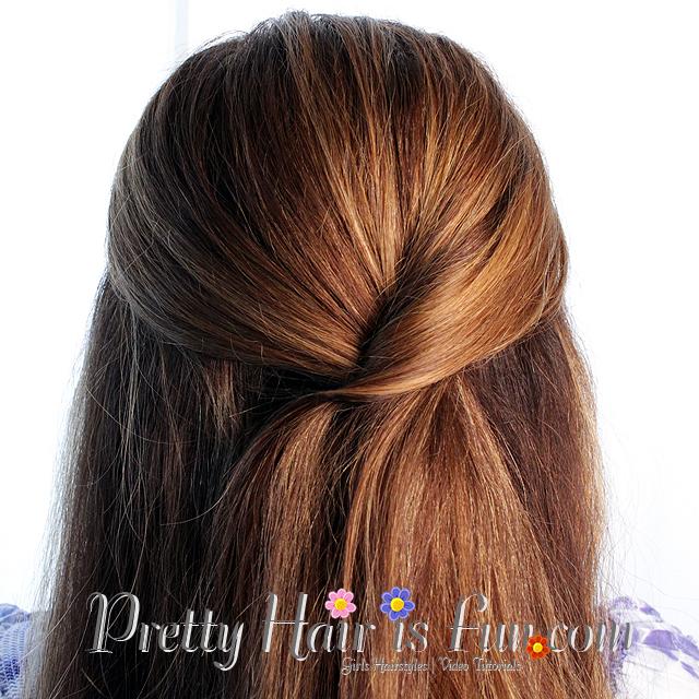 Easy Twist tieback Frisur: Hübsches Haar ist Fun