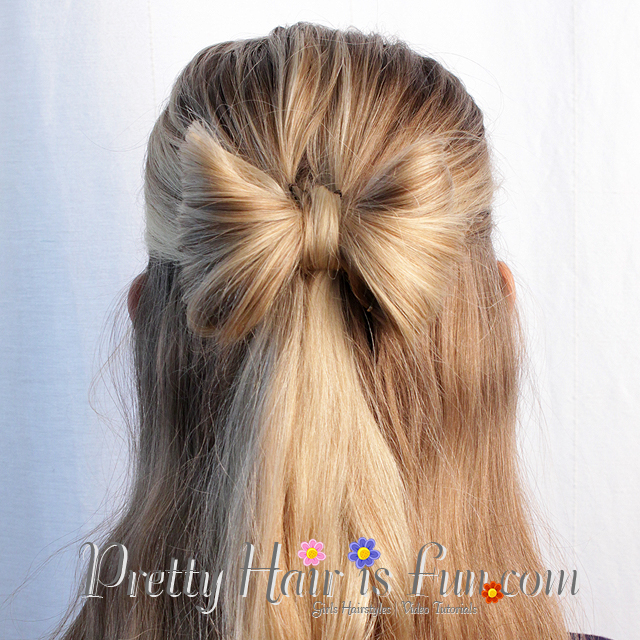 Pretty Hair Is Fun Hair Bow Half Up Hairstyle Pretty